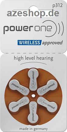 PowerOne p312 Hörgerätebatterien