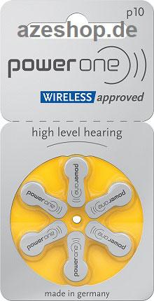 PowerOne p10 Hörgerätebatterien
